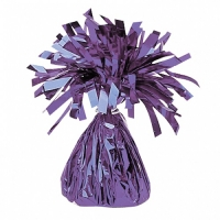 Party Celebration's Purple Foil Balloon Weight Table/ Party Decoration