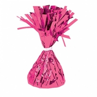 Party Celebration's Magenta Foil Balloon Weight Table/ Party Decoration