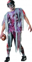 Mens Halloween Fancy Dress Costume Zombie End Zone Football Player