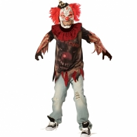 Boys And Teens Halloween Sideshow Clown Costume