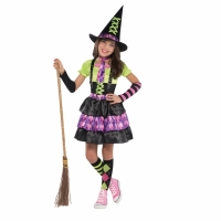 Girls Halloween Spellbound Witch Fancy Dress Costume