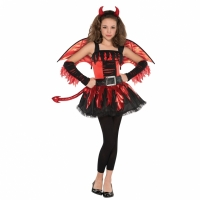 Girls Teen Daredevil Halloween Costume with Accessories