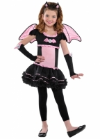 Girls halloween Fancy Dress Bat to the Bone Costume