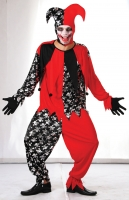 Mens Halloween Evil Jester Costume