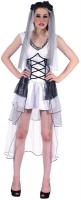 Ladies Halloween deathly bride Fancy Dress Outfit 10-14