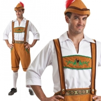 Mens Oktoberfest Beer Festival Country Man Fancy Dress Costume