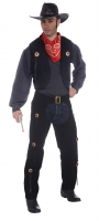 Deluxe Western cowboy Vest and Chaps set fancy dress accessory