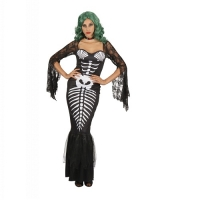 Ladies Halloween Zombie Prisoner Fancy Dress Costume Outfit
