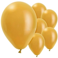 Party/ Special Occasions Plain Gold 10 Pack Of Balloons  11'' Pearl Latex