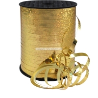Party Celebration's Gold Holographic Curling Balloon Ribbon - 228m