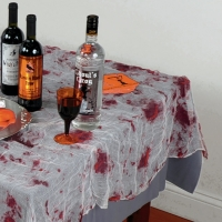 Bloody gauze table cloth