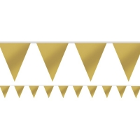 Party/ Special Occasions Plain Gold Paper Bunting/ Flag Banner 4.5m