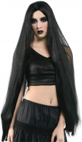 Long black Halloween 40 inch wig