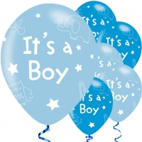 Baby Shower Blue It's A Boy Balloons