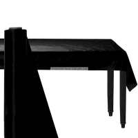 Giant Black Party Banqueting Table roll cover Plastic