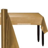 Party Gold Banqueting Table Roll Cover Plastic 30m