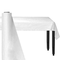 Giant White Party Banqueting Table roll cover Plastic 30 metre x 1.1 metre