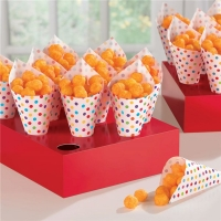 Party/ Special Occasions Fun Rainbow Snack Cones with Tray
