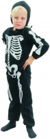 Boys Toddler Skeleton Suit Fancy Dress Costume