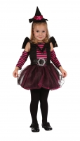 Toddler Pink Witch Suit Fancy Dress Costume