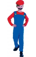 Mario the Plumber boys fancy dress kids costume
