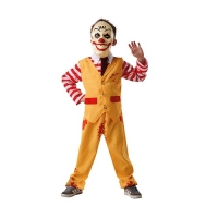 Sinister Clown Boys Halloween Fancy Dress Costume