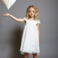 Girls Party Dress Disney Boutique Cinderella White And Silver Lace Dress