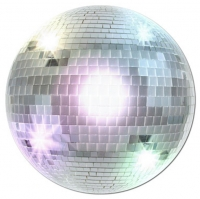 Sparkling Fun Disco Ball Cutout Party Decoration -33.5cm