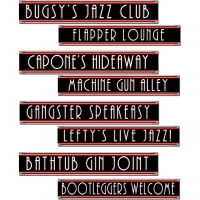 1920s Gangster Street Sign Cutouts - 60cm Party Decoration