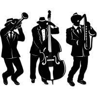 1920s Jazz Trio Silhouettes - 45cm Party Decoration