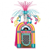 1950's Theme Party Decoration Rock and Roll Jukebox Table Centerpiece 38cm