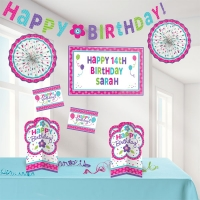 Pink and Teal Personable Decorating Birthday/ Party Kit