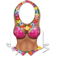 Hawaiian / Hula Hula Flower Plastic Beach Babe Vest Fancy Dress Accessory