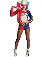 Ladies Halloween Fancy Dress Deluxe Harley Quinn Costume