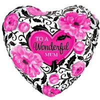 "Happy Mother's Day Wonderful Mum Balloon 18"" Foil"