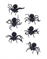 Halloween Pack of 6 Spiders