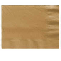 Party/ Special Occasions Plain Gold Beverage Napkins 25cm 2ply