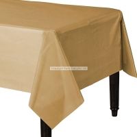 Gold Celebration Plastic Table Cover Party Decoration