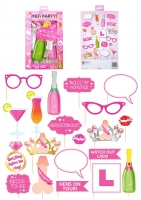 Hen party activity photo booth kit props