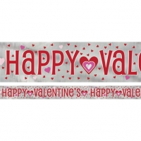 Happy Valentine's Day Hearts Foil Banner
