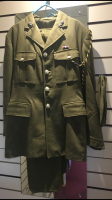 Mens Hire Historical 1940's Green Army Officer WW2