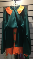 Mens Christmas Elf Hire Costume Green and Orange