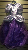 Girls  Purple Ballgown Hire Costume