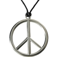 Fancy Dress Accessory Hippy Peace Necklace