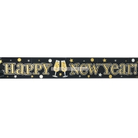 Happy New Year's Eve Foil Banner Party/ Celebration Decoration 2.7m