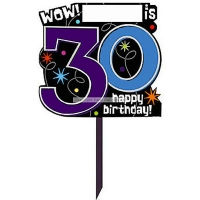 Party Celebration's 30th Birthday Lawn Sign - Party Decoration
