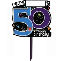 Party Celebration's 50th Birthday Lawn Sign - Party Decoration