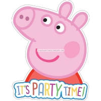 Peppa pig pack of 6 party invitations and evelopes