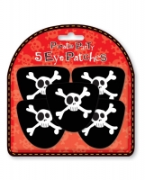 5 pirate eye patches pack, party bag filler