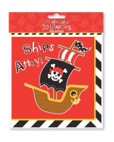 2 ply, 20 pack of pirate napkin's, party supplies